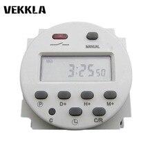 AC DC 12 V 110 V 220 V LCD numérique interrupteur de temps 16A Programmable hebdomadaire minuterie contrôle puissance temps relais interrupteur CN101A minuterie