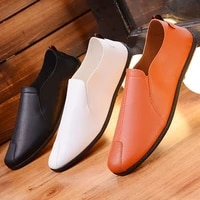 new spring men casual shoes loafers old peking shoes man fashion flat soft driving footwear lightweight male peas shoes loafers