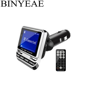 "Bluetooth 4.1 FM Transmitter Wireless Radio Adapter Handsfree Car Kit with IR 21-key remote control 1.4"" large screen"