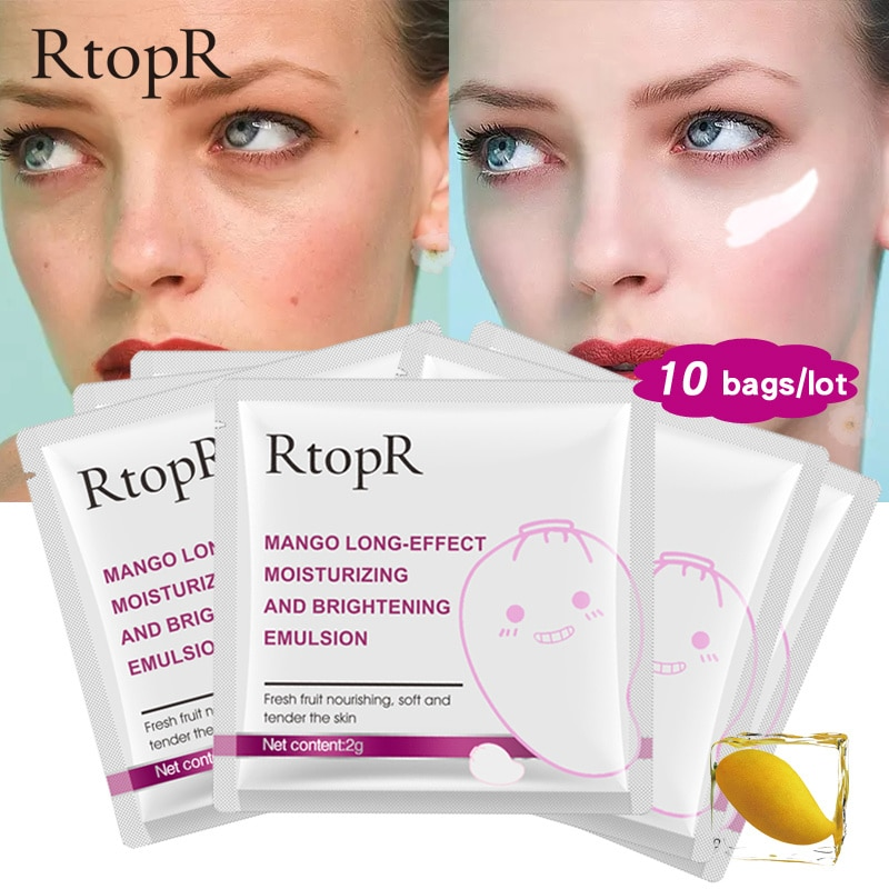 10 unidades de emulsión de efecto de Mango de ácido hialurónico antienvejecimiento Anti arrugas blanqueamiento profundo cuidado de la piel emulsión de belleza TSLM2