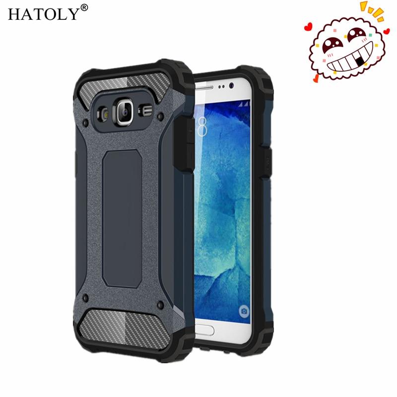 HATOLY para Capa Samsung Galaxy J7 2015 Galaxy J7 2015 armadura pesada duro cubierta funda de silicona para Samsung J7 2015 J700F #
