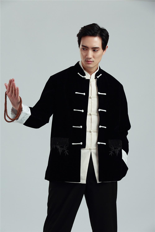 شنغهاي قصة جديد وصول الصينية قميص الجانبين ارتداء سترة معطف النمط الصيني سترة عكسها سترة للرجل 3 اللون
