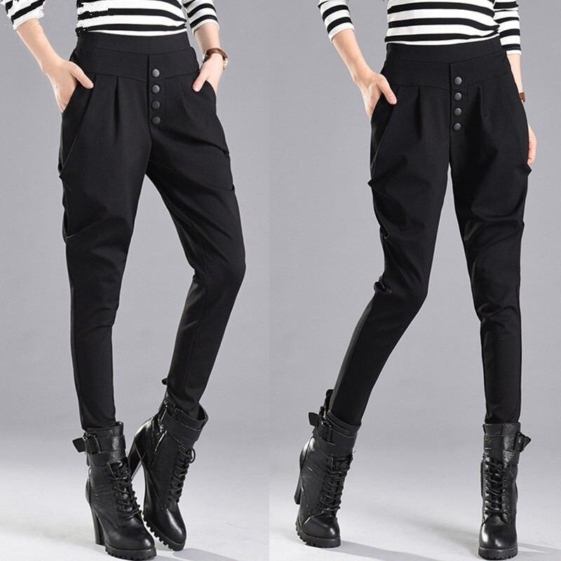 Spring Summer Pants Women High Waist Plus Size 4XL Elastic Slim Harem Pants Female Trousers Women Casual Pantalon Femme Q1215