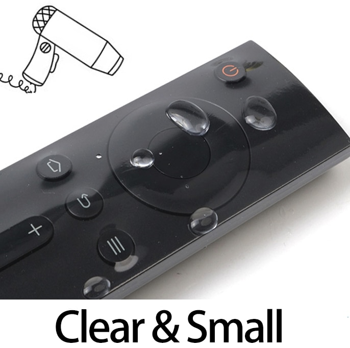 Capa de controle remoto para tv, capa protetora pequena para controle remoto de tv, 10 peças de filme encolhível de calor, à prova dágua, saco de poeira, qualidade superior macio e macio
