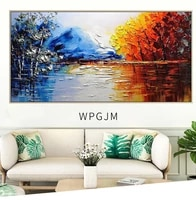 handmade modern abstract landscape oil painting on canvas wall art pictures for live room home decor paintings unframe