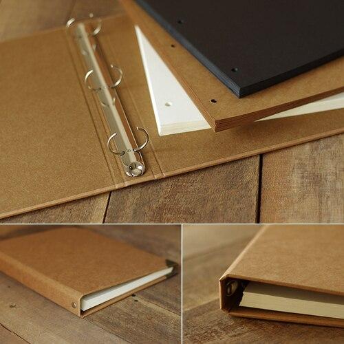 А4 большой размер пустой блокнот свободного листа ручная роспись граффити ручной работы Крафт DIY Фотоальбом крафт бумажные наборы для скрап...