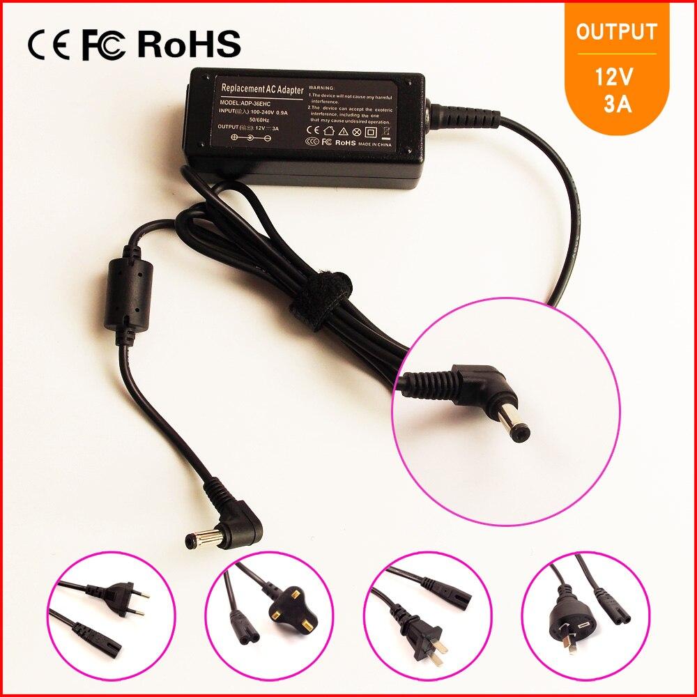 12V 3A portátil Ac Cargador/adaptador de corriente para ASUS Eee PC S101...