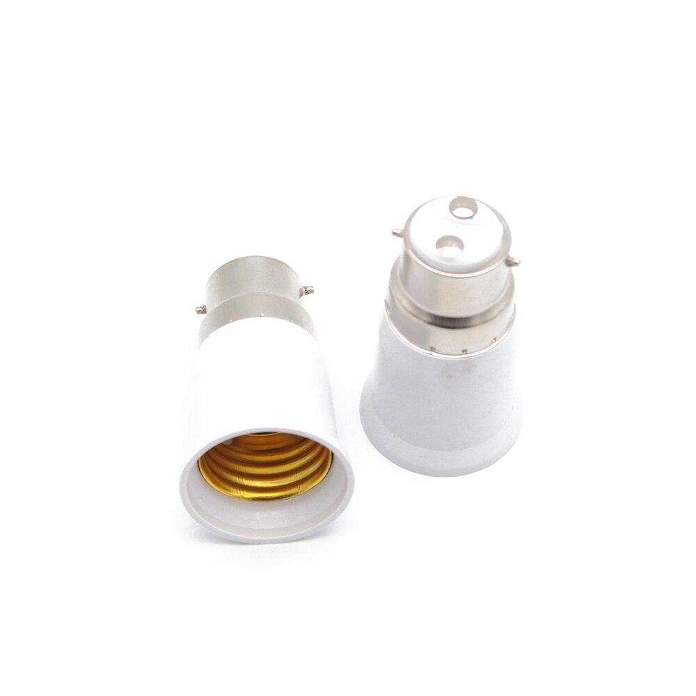 Bayoneta BC B22 a ES E27 lámpara de tornillo adaptador Adaptador convertidor portalámparas convertidores