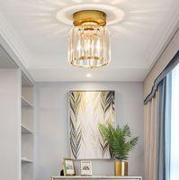 European-style lighting balcony aisle bedroom 90v-240v corridor cloakroom post-modern minimalist crystal ceiling lamp