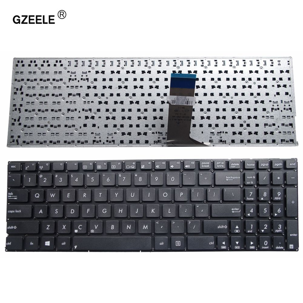 GZEELE nos teclado para ASUS X553M X553MA K553M K553MA F553M F553MA A553M A553MA D553M D553MA R556L inglés teclado de ordenador portátil negro
