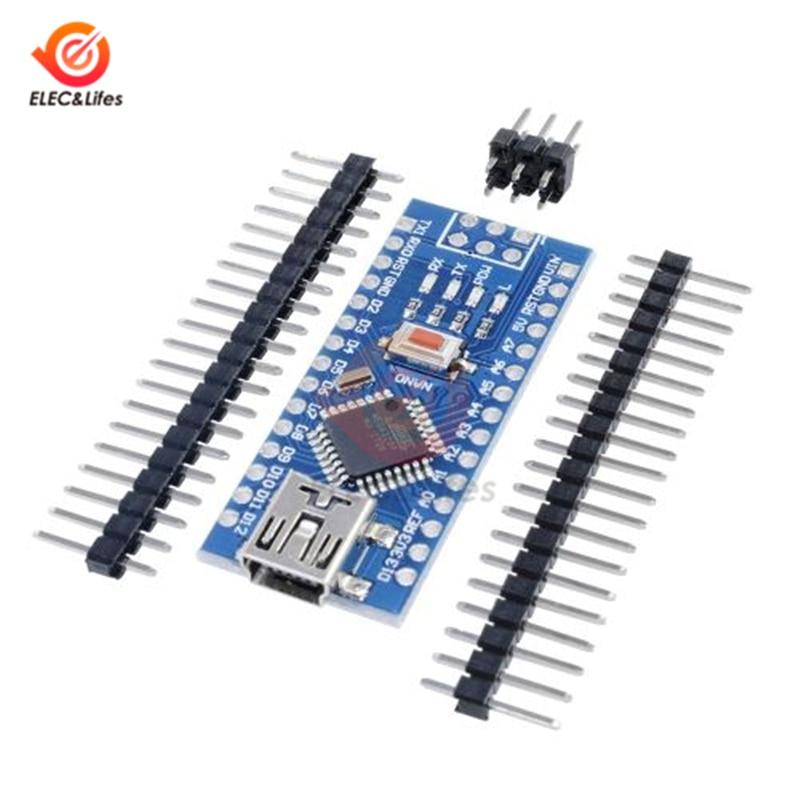 Мини USB CH340 NANO v3.0 3,0 ATmega328P-AU плата контроллера совместима с Arduino Nano CH340 USB драйвер Nano V3 ATmega328 328p