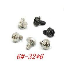 Vis de réglage ventilateur   Dents à filetage extérieur hexagonale boîtier PC, boîtier PC, refroidissement ventilateur, sans outil, vis de réglage 50 pièces/lot 6-32*6