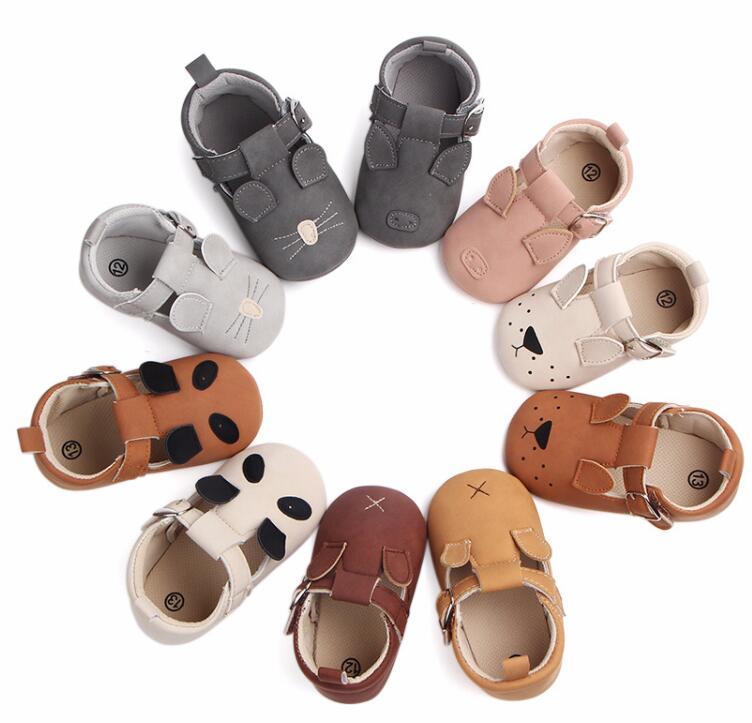 Kinds of Cartoon Animal Moccasins Baby Boy Girls Shoes Panda Mouse Newborn Infant Toddler Soft Sole First Walker Prewalkers Shoe