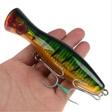 1pcs 12cm 40g Big Popper Fishing Lure Crankbait Iscas Artificial Wobblers ABS Hard Bait Pesca Bass Carp Pike Fishing Tackle