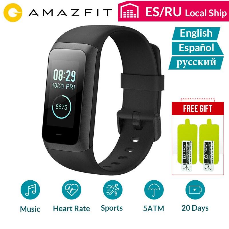 Amazfit Смарт часы спортивный ремешок 2 Кор 2 Браслет монитор сердечного ритма водонепроницаемый IPS экран 20 дней в режиме ожидания Bluetooth 4,2 английский