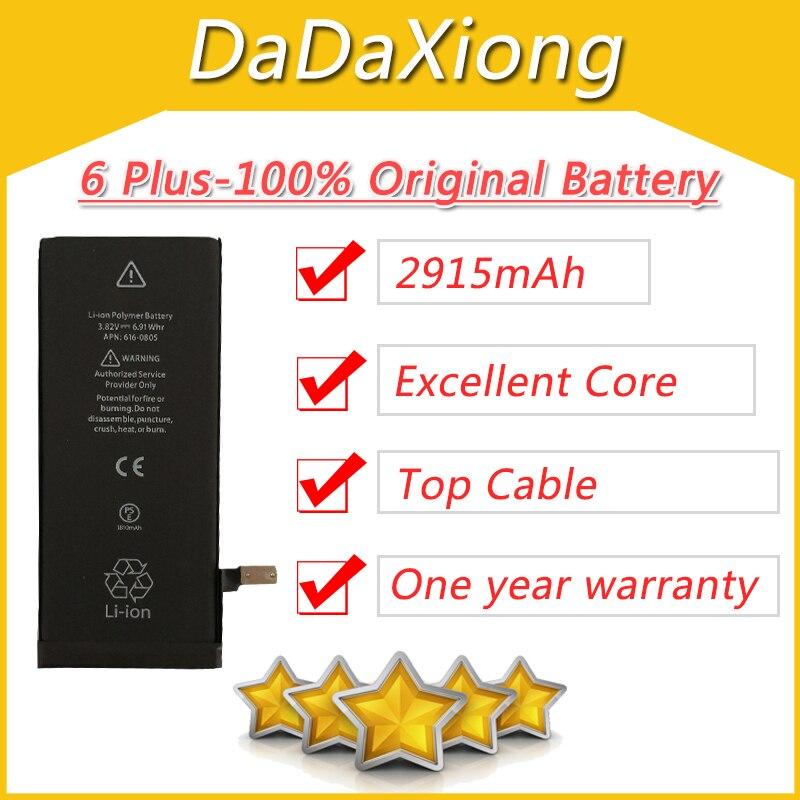 """100 unids/lote DHL excelente 2915mAh Core Placa de protección 3,82 V cero batería cíclica para iPhone 6 6G Plus 5,5 """"repairpart 6plus-AAA"""
