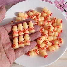 Mono feliz DIY 15 Uds accesorios para Slime juguete resina Mini botella de leche botella de suministros de masa viscosa relleno para de cristal claro de limo