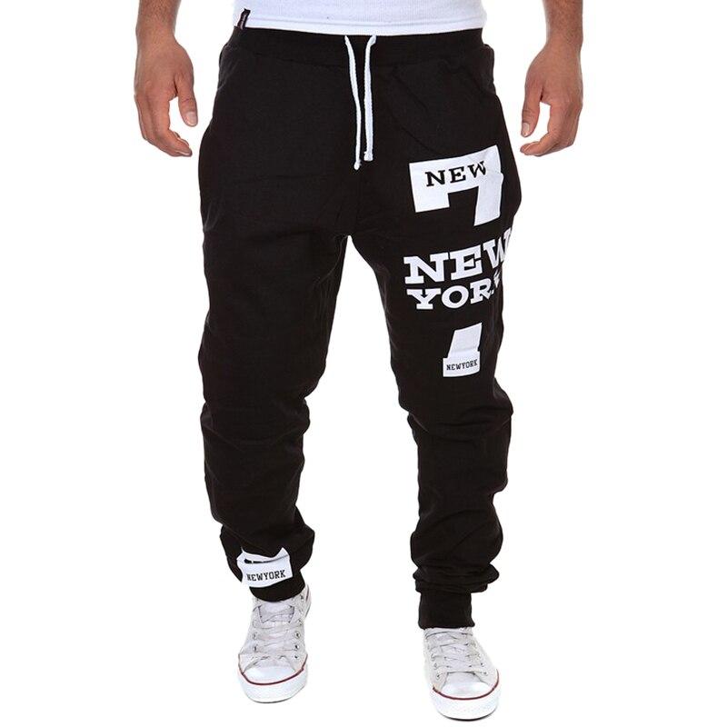 Oeak pantalones casuales de moda para hombres pantalones de chándal con estampado de letras nuevos para hombre con cordones sueltos hip-hop pantalones largos pista corredores pantalones de algodón