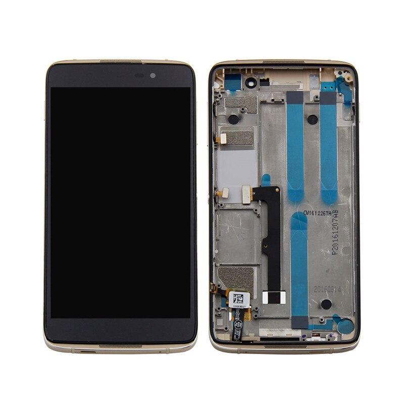 Für Alcatel One Touch Idol 4 LTE OT6055 6055 6055 p 6055Y 6055B 6055 karat LCD Display Digitizer Touchscreen montage + Rahmen