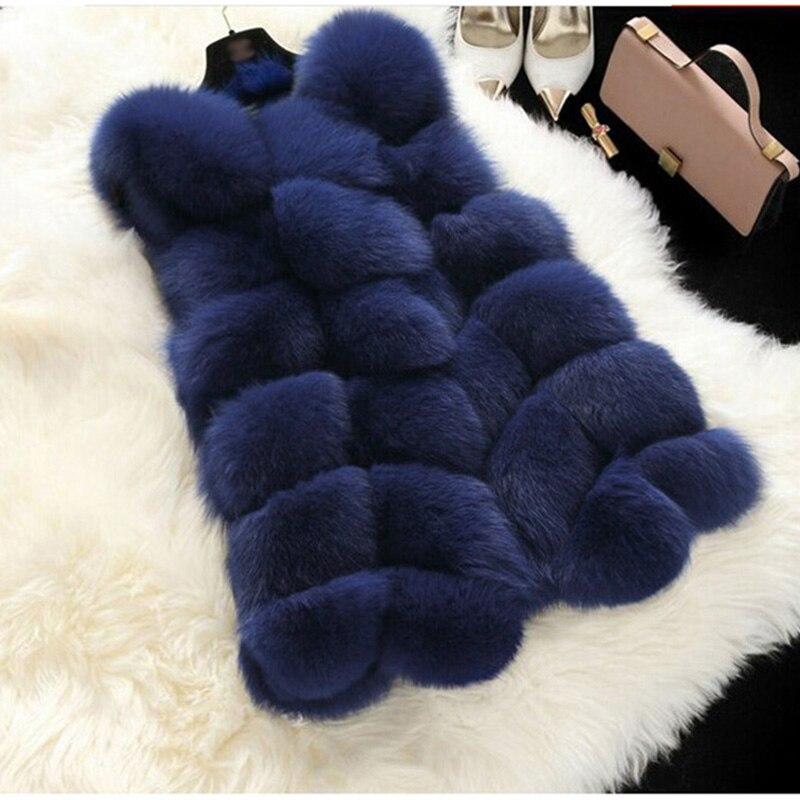 TUHAO пальто с искусственным мехом, зимняя женская повседневная жилетка без рукавов с искусственным лисьим мехом, женская элегантная одежда