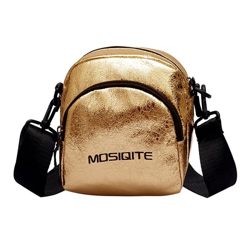 Señora bolso de hombro tipo bandolera moda pequeño Mini bolsa con cremallera resistente bolso PU para teléfono móvil dinero 14x17x9CM