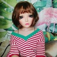 chun 4female sweet girl resin half head kigurumi bjd eyes crossdress cosplay japanese anime role lolita mask with eyes and wig