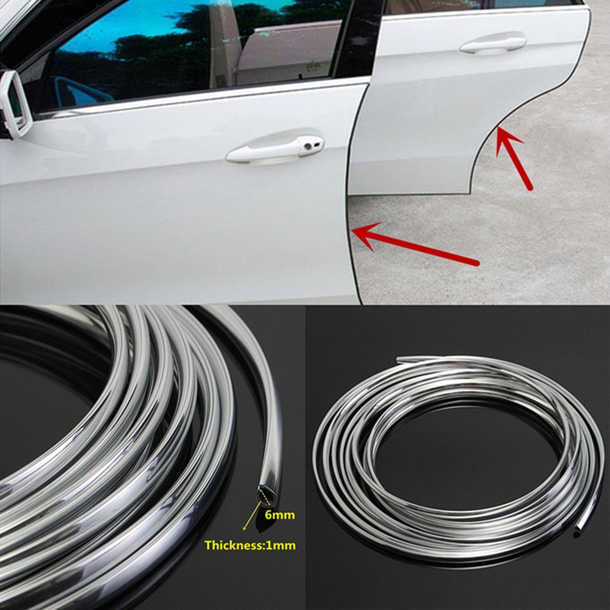 16FT/5M biała guma taśma ochronna krawędź do drzwi samochodu Protector listwa wykończeniowa osłona z klejem