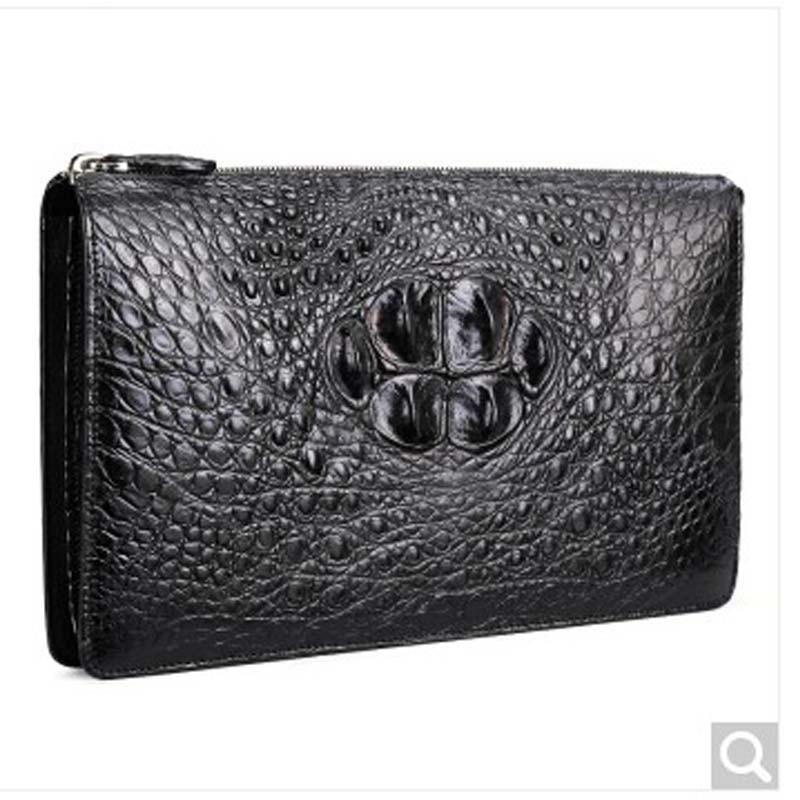 fasiqi crocodile leather men bag large capacity envelope bag men crocodile hand bag European fashion men clutch bag