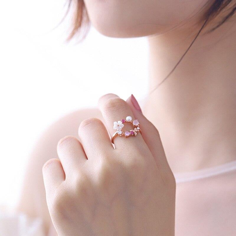 Женское кольцо с цветком MENGJIQIAO, корейское кольцо на палец, подарок на день рождения, 2019