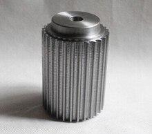 Durable aluminum alloy material 16 teeth s3m  machine gear,200 mm length