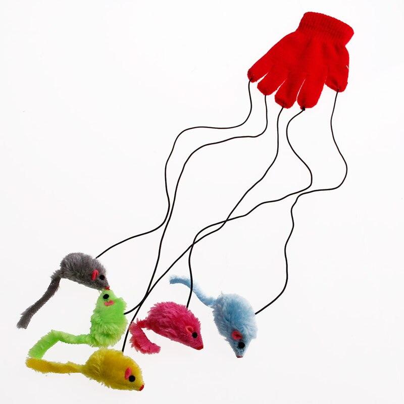 Guante para gatos y gatos para jugar a rascar, guante para jugar con ratones y ratones, juguete divertido para trucos y actividades de buena calidad