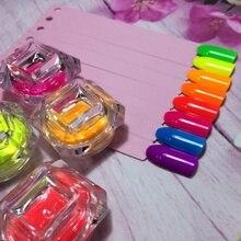 New 1box Neon Phosphor Pigment Powder Set Fluorescent Nail Glitter Powder Manicure Decoration Nail Art Dust Pigment Paillettes