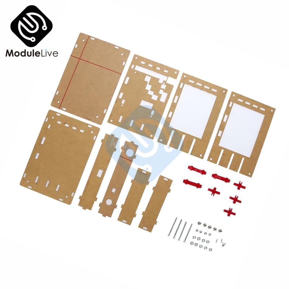 "Neue Klar Acryl Fall Shell Gehäuse für DSO138 2.4 ""TFT Digital Oszilloskop DIY Kit"