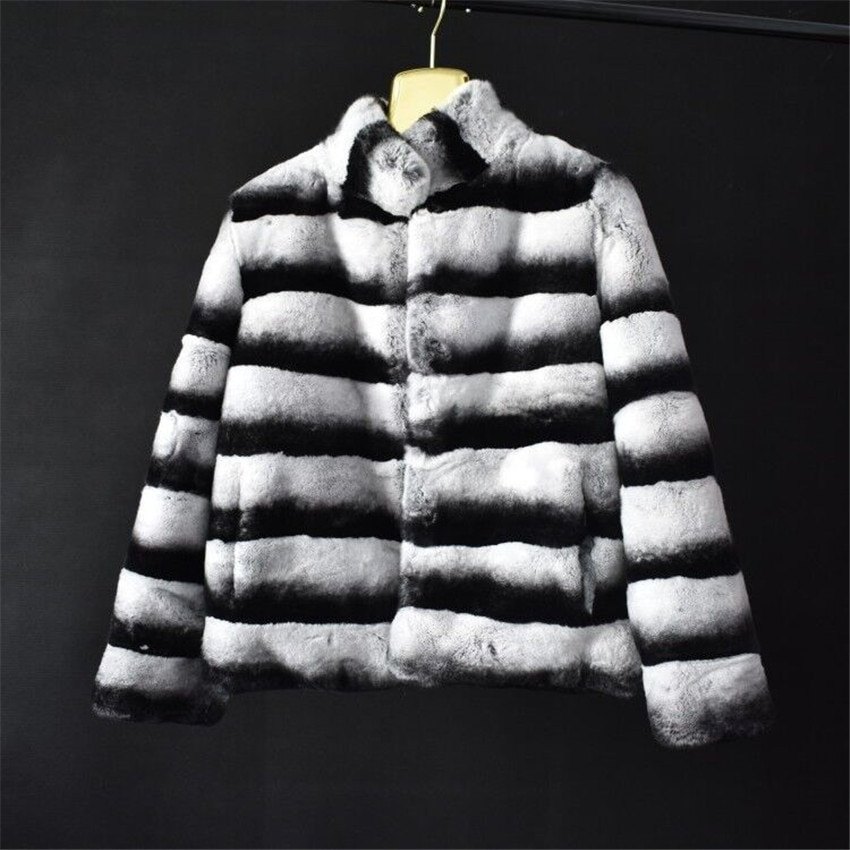 2018 senhoras casaco curto de pele de coelho naturais casaco de pele de coelho grama pele de raposa pele real moda casual quente alta de rua estilo