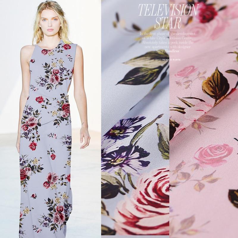 Rose crepe de chine silk fabric summer breathable silk fabric for dress soft chinese silk fabric wholesale silk cloth