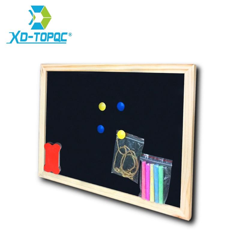 Доска меловая деревянная 30*40 см, меловая доска с деревянной рамкой, сухое стирание, магнитная черная доска, офисный поставщик, бесплатная до...