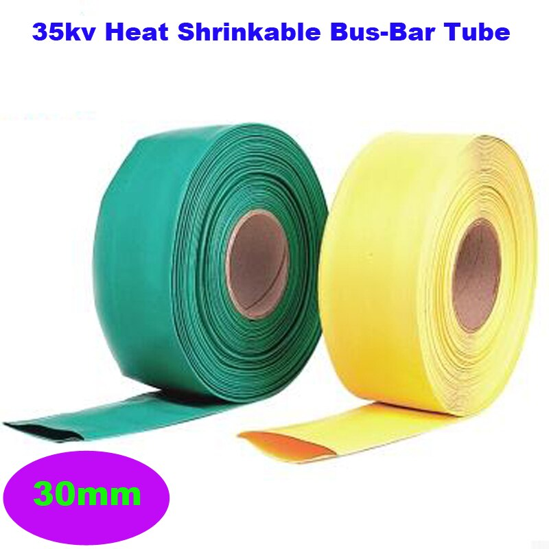 Garantía de Calidad 2 m/rollo de alto voltaje 35KV 30MM diámetro aislante Bush 35KV Bus-Bar Tubo termorretráctil