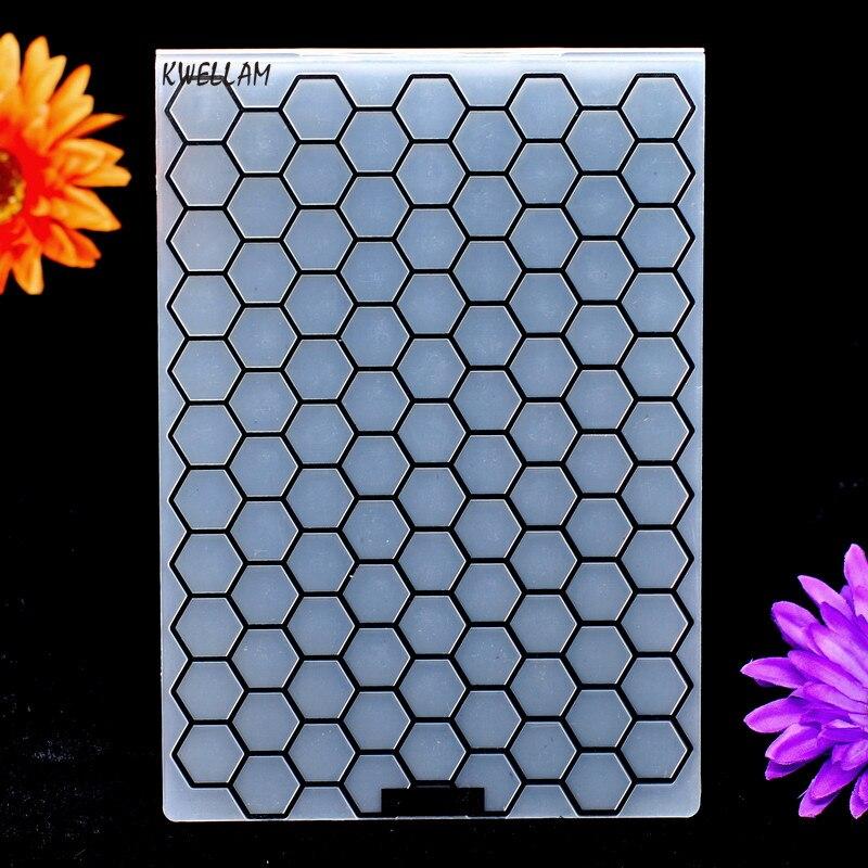 A5 Tamanho Do Favo de mel de Plástico Pasta de Gravação Para O Scrapbook Álbum DIY Ferramenta Do Cartão De Plástico Modelo 14.8x21 cm KW7042715
