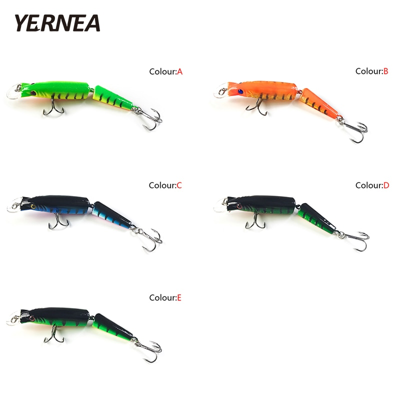 Yernea 5pcs/Lot Swimbait  Fishing Lures Crankbait Hard Bait Slow 5Colors Fishing Wobbler Fishing Tackle Isca Artificial Lures enlarge