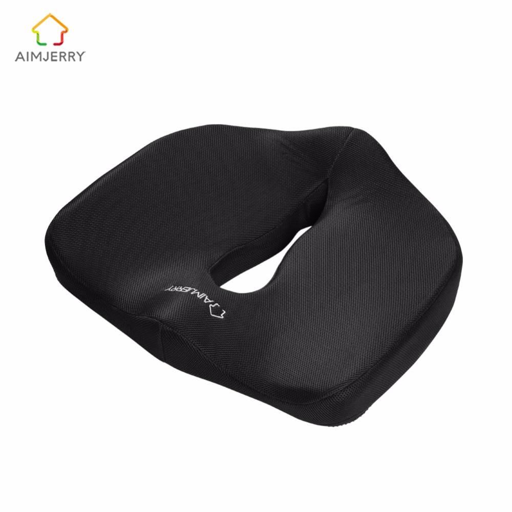 Подушка для сиденья из пены с эффектом памяти, Массажная подушка для стула, домашний декор, подушка для копчика, ортопедический дизайн, облегчение радикулита