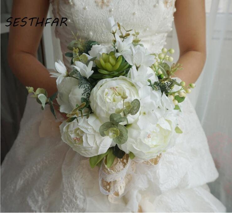 زفاف العروس باقة واقعية اليد تعادل ورود للزينة عطلة حفلة لوازم الأوروبي تشيس طويل الورود زهور الزفاف