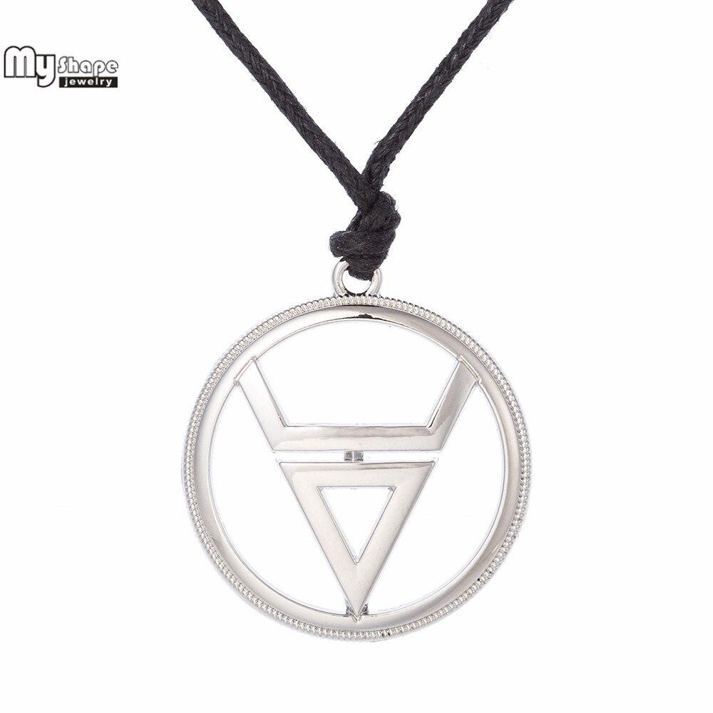 My Shape Talisman Pendant Statement Necklace Men Irish knot Viking Amulet Religion Necklaces Veles Symbol Weles Choker Silvery