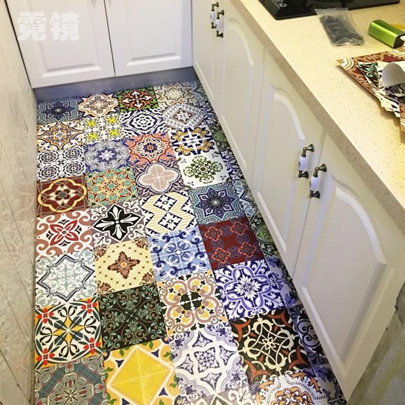 1PCS Mediterranean Style Self Adhesive Tile Art Wall Decal Sticker Diy Kitchen Bathroom Home Decor 20x20cm