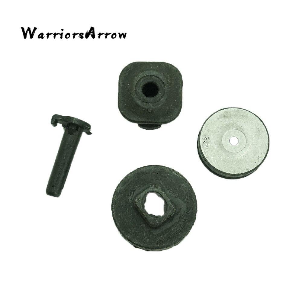 WarriorsArrow conjunto radiador RH superior y inferior aislante + perno + caucho Bush para Audi Q3 Q5 A4 S4 A5 S5 A6 A7 A8 S5 RS4 RS5 RS6 RS7