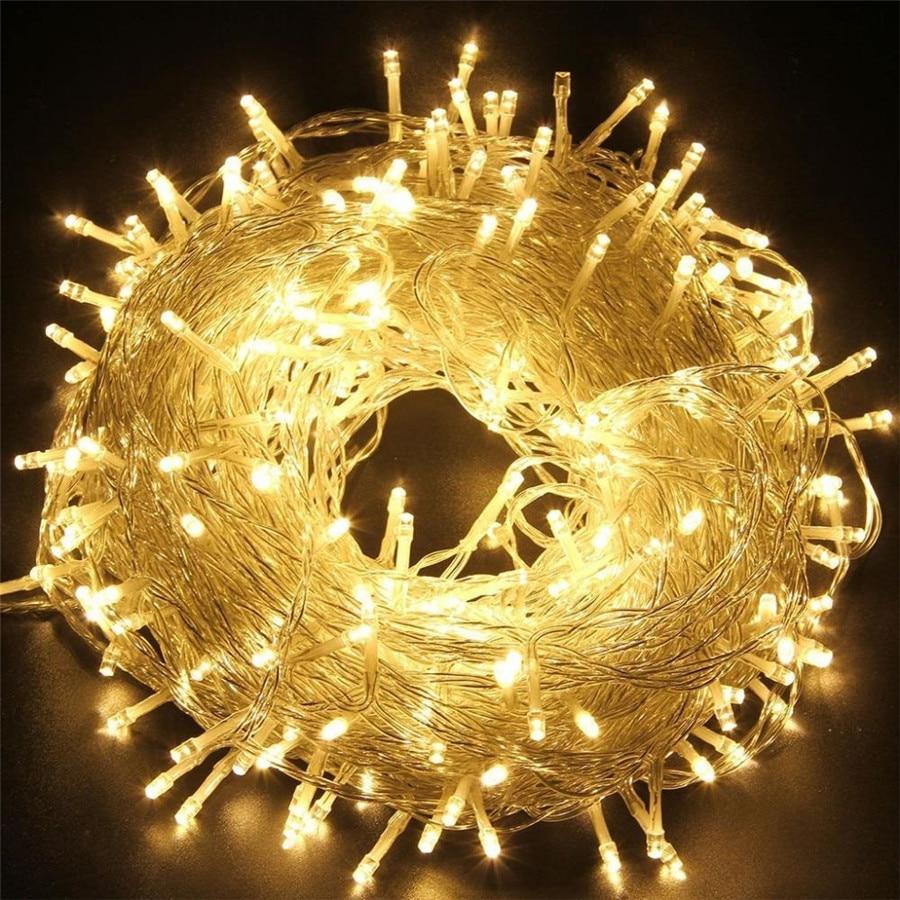 Crăciun cu LED-uri în aer liber 100m 20m 10m 5m lumini de zână - Luminări festive - Fotografie 3
