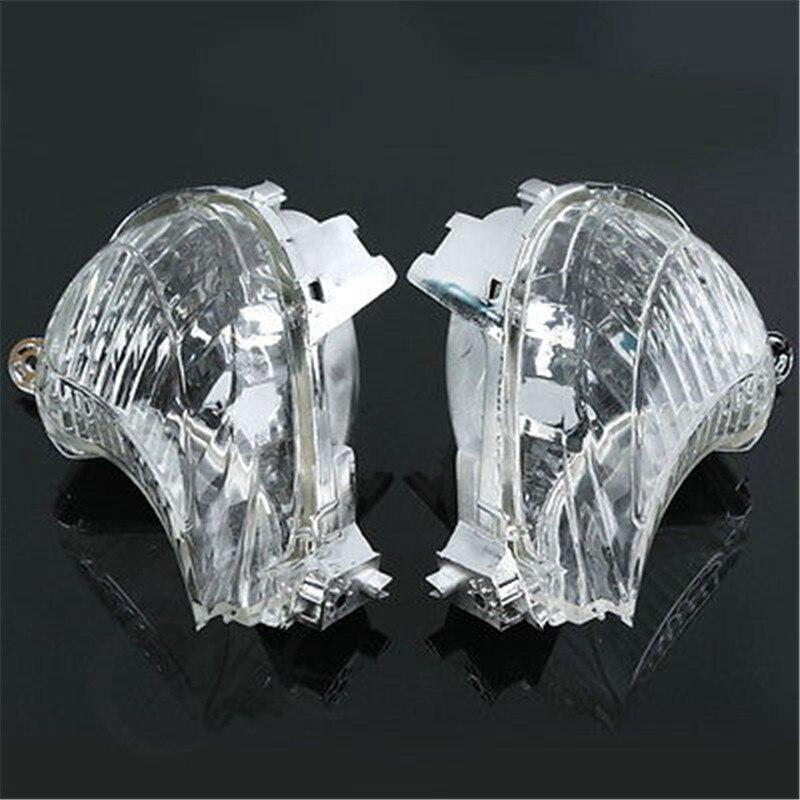 Cristal de señal intermitente transparente de humo para Suzuki Hayabusa GSXR1300R 2008-2012 2009 2010 2011 motocicleta frontal ABS