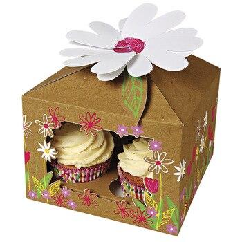 ПВХ поделки для окна коробка для кексов ручной работы со вставкой для 4 кексов (CB-0025)