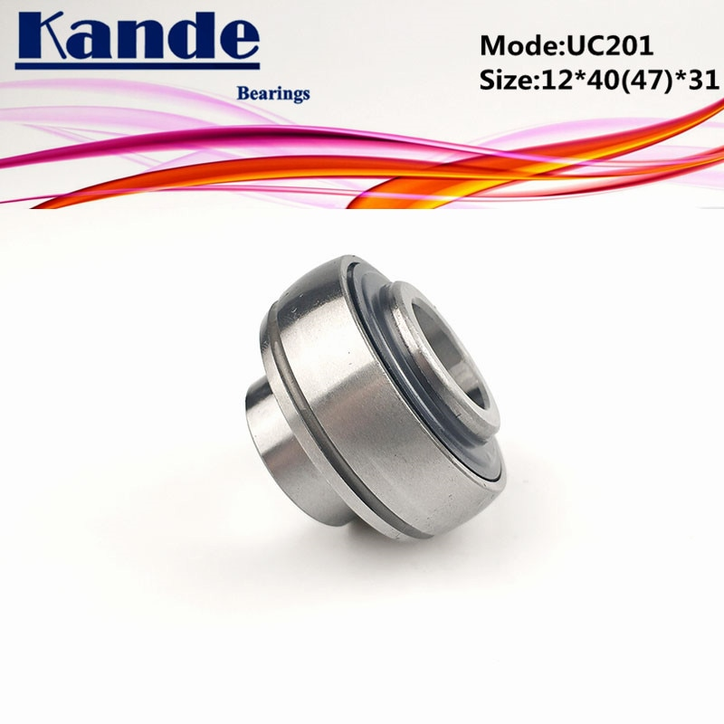Подшипники Kande 1 шт. UC 201 OD: 47 мм 12*47*31 мм/1 шт. UC201 OD: 40 мм 12*40*31 мм Подушка блок сферический подшипник UC201