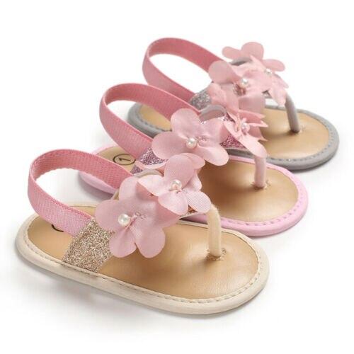 Newborn Baby Girls Flower Shoes Sandles Summer Holiday Shoes Infant Prewalker