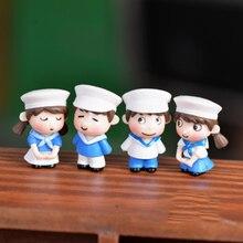 Zocdou 2 peças coréia marinha soldado russo pessoas modelo pequeno amantes estatueta estátua artesanato figura ornamento miniaturas